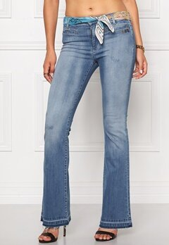 Odd Molly Janis stretch flare jeans Light blue Bubbleroom.fi