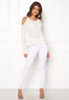 Odd Molly Kniterie Sweater Light Chalk Bubbleroom.fi