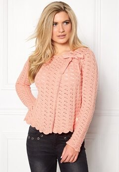 Odd Molly Lovebird Cardigan Light Coral Bubbleroom.fi