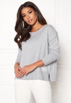 Odd Molly Miss Soft Sweater Light Grey Melange Bubbleroom.dk