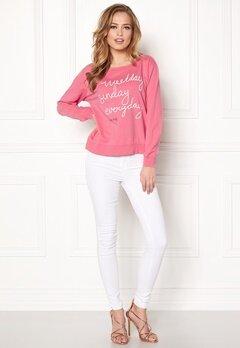 Odd Molly Pleasant Sweater Happy Pink Bubbleroom.se