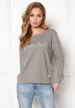Odd Molly Pleasant Sweater Light Grey Melange Bubbleroom.dk