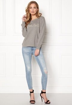 Odd Molly Pleasant Sweater Light Grey Melange Bubbleroom.se
