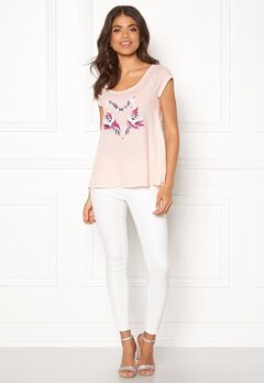 Odd Molly Print Love T-shirt Soft Rose Bubbleroom.fi