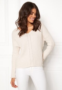 Odd Molly Rib It In Sweater Light Chalk Bubbleroom.eu da5de8ddbb