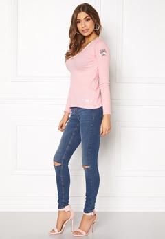 Odd Molly Rib Jersey L/S Top Milky Pink Bubbleroom.fi