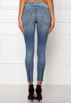 Odd Molly Stretch it cropped jeans Mid Blue Bubbleroom.fi