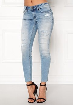 Odd Molly Stretch It Cropped Jeans Mid Blue Bubbleroom.dk