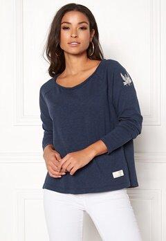 Odd Molly Sunshiny Sweater Dark Blue Bubbleroom.dk