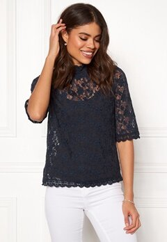 Odd Molly Sway High Blouse French Navy Bubbleroom.se