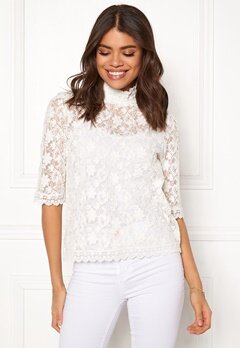Odd Molly Sway High Blouse Light Chalk Bubbleroom.se