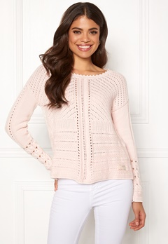 Odd Molly Symmetry Moves Sweater Pink Porcelain Bubbleroom.se