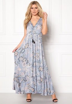 Odd Molly Under The Sea Long Dress Dusty Blue Bubbleroom.se