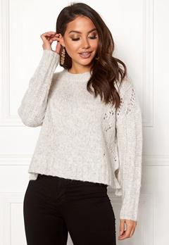 Odd Molly Upbeat Sweater Light Grey Melange Bubbleroom.se