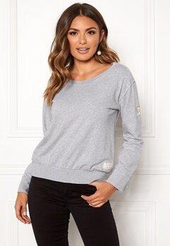 Odd Molly What's Up Sweater Light Grey Melange Bubbleroom.se