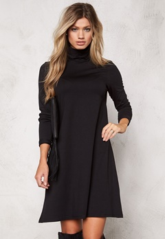 VILA Officiel Rollneck Dress Black Bubbleroom.fi
