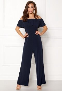 AX Paris Offshoulder Jumpsuit Navy Bubbleroom.no