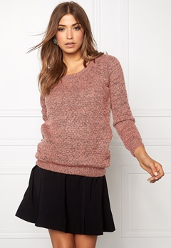 ICHI Olanda ls Knit Brick Dust Melange Bubbleroom.se