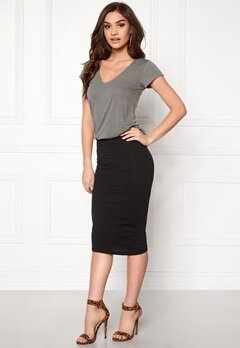 ONLY Abbie Calf Skirt Black Bubbleroom.se