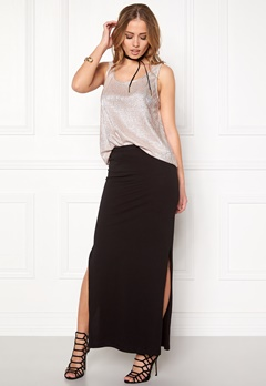 ONLY Abbie l slit skirt noos Black Bubbleroom.fi