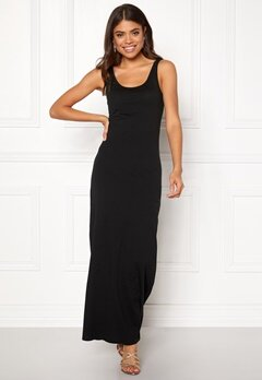 ONLY Abbie Long Tank Dress Black Bubbleroom.se