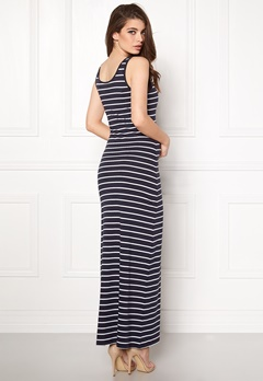 ONLY Abbie Stripe Long Dress Night Sky Stripe Bubbleroom.fi