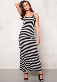 ONLY Abbie stripe sl long noos Black/Black Bubbleroom.fi