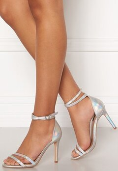 ONLY Aila Pu Iridescent Wrap Heeled Sandal Silver Bubbleroom.se
