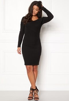 ONLY Akili L/S Dress Option Black Bubbleroom.dk