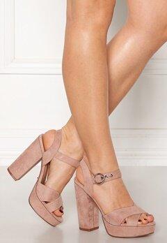ONLY Allie Wide Heeled Sandal Light Pink Bubbleroom.se