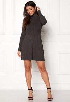 ONLY Alma L/S Dress Dark Grey Melange Bubbleroom.fi