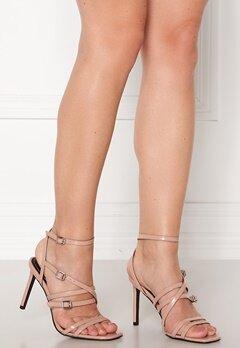 ONLY Alyx PU Heeled Sandal Nude Bubbleroom.se