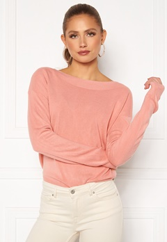 ONLY Amalia L/S Boatneck Pullover Blush Bubbleroom.se