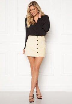 ONLY Amazing HW Corduroy Skirt Whitecap Gray Bubbleroom.se