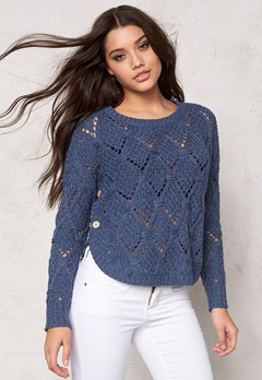 ONLY Amelia l/s pullover knit Vintage Indigo Bubbleroom.se