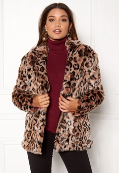 ONLY Amy Fur Coat Silver Mink Bubbleroom.se