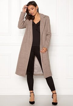 ONLY Amy Sharon Wool Coat Simply Taupe Bubbleroom.se