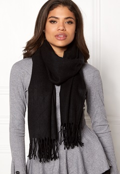 ONLY Anna Weaved Scarf Black Bubbleroom.fi