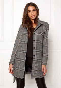 ONLY Ashley Check Wool Coat Black Bubbleroom.se