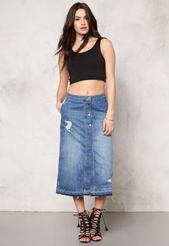 ONLY Ashton Skirt Medium Blue Denim Bubbleroom.se