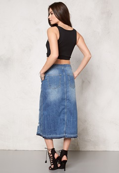 ONLY Ashton Skirt Medium Blue Denim Bubbleroom.dk