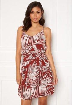 ONLY Augustina S/L Short Dress Burnt Henna Bubbleroom.se