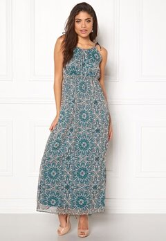 ONLY Aura S/L Maxi Dress Peyote Bubbleroom.se