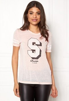 ONLY Ava S/S Sparkle/Shine Top Cameo Rose Bubbleroom.se