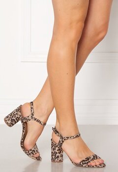 ONLY Balsa AOP Heeled Sandal Beige Bubbleroom.se