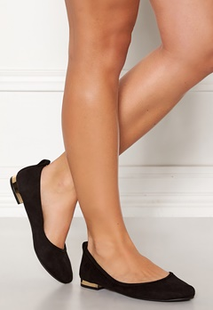 ONLY Bell Heeled Ballerina Black Bubbleroom.se