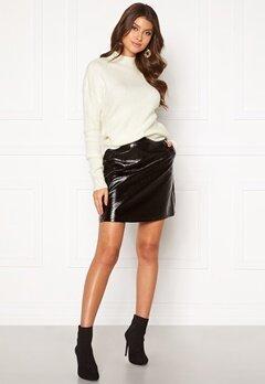 ONLY Bella Faux Leather Skirt Black Bubbleroom.se
