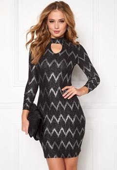 ONLY Bella Highneck L/S Dress Black Bubbleroom.fi