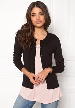 ONLY Bella L/S Button Cardigan Black Bubbleroom.fi