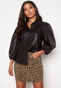 ONLY Bella L/S Shirt PU Black Bubbleroom.se